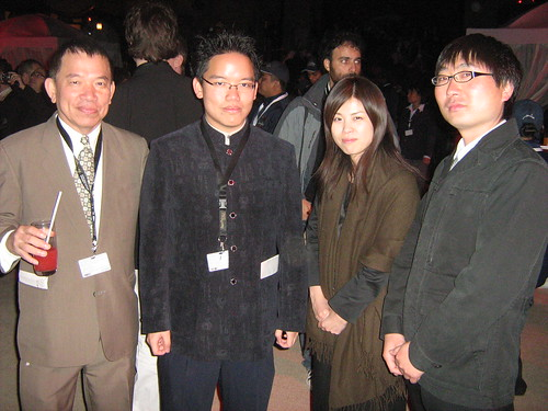 With Japanese filmmakers, Tsuki Inoue (