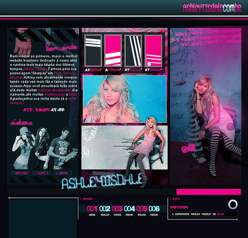 Layout 3.0 Ashelytisdale.com.br by Caio T..
