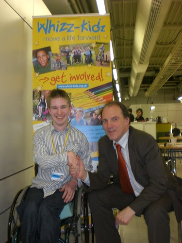 Simon with Whizz-Kidz