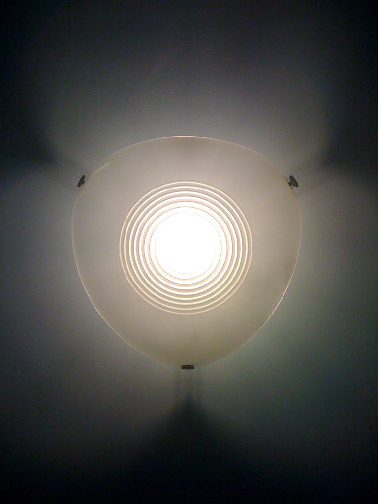 Light fitting on the stairs to my work
