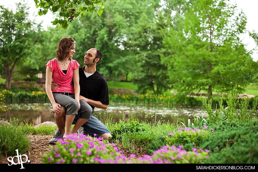 Topeka engagement photos, Gage Park