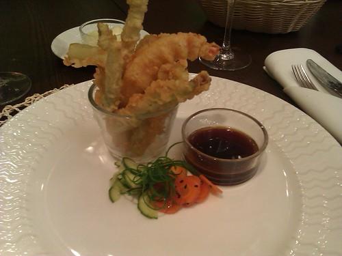 tempura sparanghel creveti