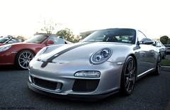 Porsche 997 GT3 (sledhockeystar7) Tags: show car silver restaurant nikon parking rally 911 lot event porsche parked dslr blackstone exotics gt3 997 2011 d3000 sledhockeystar7