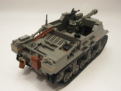 "Canadian Sexton II (""Rumrunner"") Tags: infantry self army gun tank lego brodie wwii helmet machine canadian 2nd ii ww2 artillery decal custom bren worldwar2 brigade sexton propelled allies armoured brickarms"