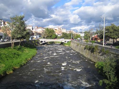 Tomebamba River in Cuenca