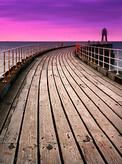 Walk The Line (Dave Snowdon (Wipeout Dave)) Tags: wood coast pier whitby northyorkshire iphone northeastengland wipeoutdave davidsnowdonphotography djs2014