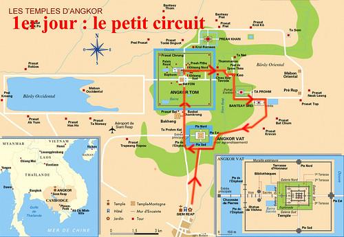 Carte Angkor petit circuit
