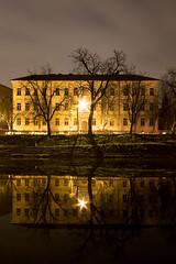 Reflection (dusan.smolnikar) Tags: longexposure light reflection water night river ljubljana ljubljanica