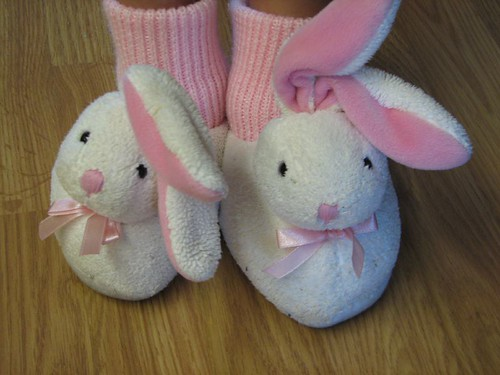 M's bunny slippers