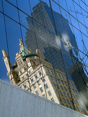 The Crown Building reflected in the Solow Building (Jim Lambert) Tags: nyc newyorkcity usa ny newyork architecture buildings us spring unitedstates manhattan midtown 2008 w57thst crownbuilding solowbuilding 9west57th west50s west57thstreet thecrownbuilding april2008 w57thstreet solowbldg spring2008 april52008 04052008 5april2008