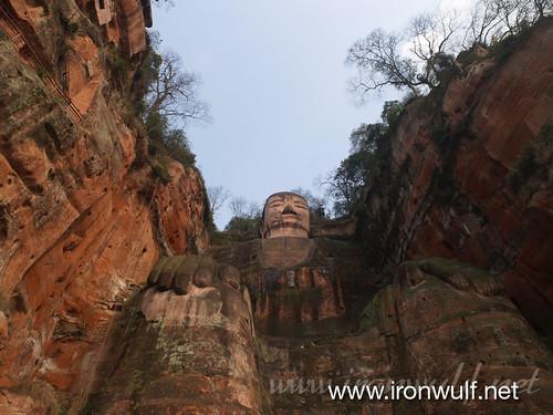 Leshan Giant Buddha Worm View