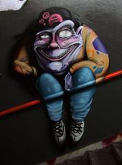 character (mrzero) Tags: streetart art lines wall effects graffiti paint hungary character fat eger tunnel spray human colored graff cfs mrzero