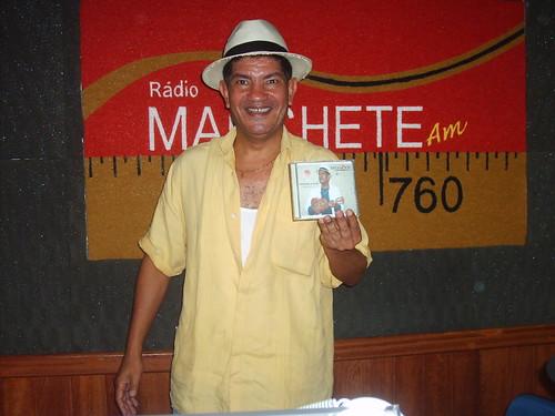 """Moacyr Alves, compositor, na Rádio Manchete AM lançando o CD autoral """"Dedicado a você"""""""