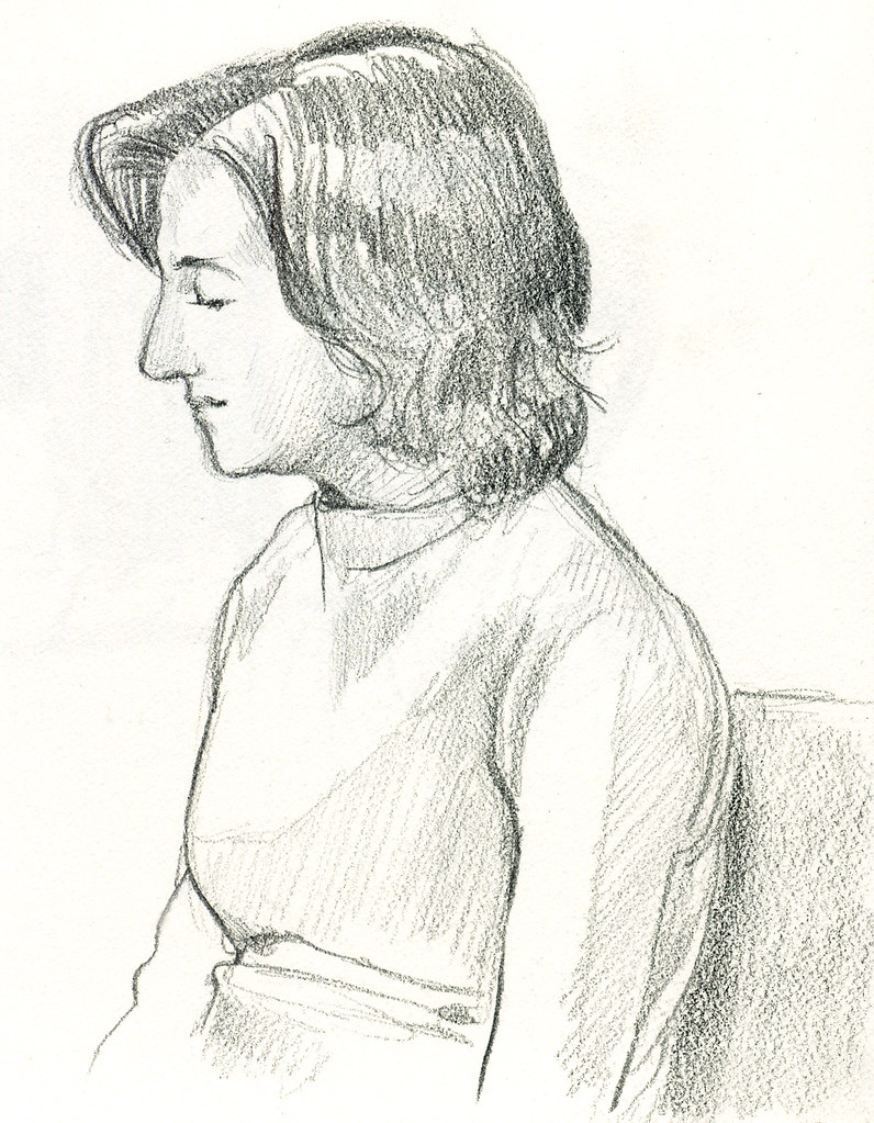 Woman in profile