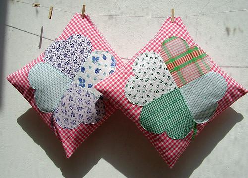 shamrock pillows - kleeblatt kissen