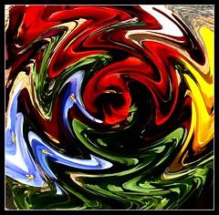 Pansy Warp 4 (philwirks) Tags: abstract picnik myfavs philrichards show08 philwirks