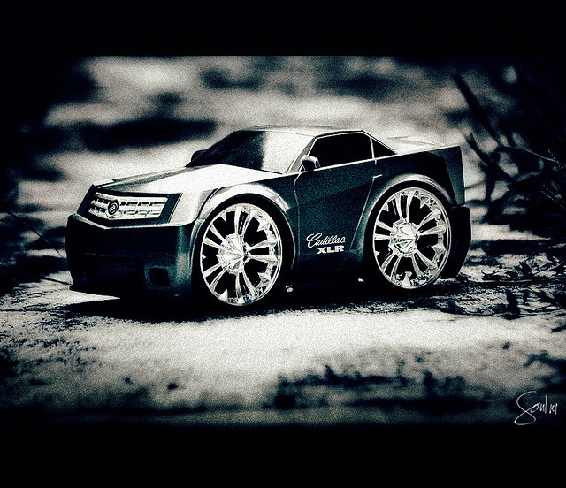 grass car race toy interesting play wheels ground concept cadillacxlr nikond40 soul101
