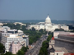 Capitol Building from Old Post Office Tower (amy's pixels) Tags: street city usa building landscape dc washington uscapitol capitol lookingdown oldpostoffice thornton bulfinch latrobe charlesbullfinch williamthornton benjaminhenrylatrobe aia150
