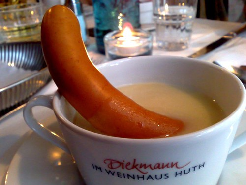 Berlin Potato Soup with Sausage