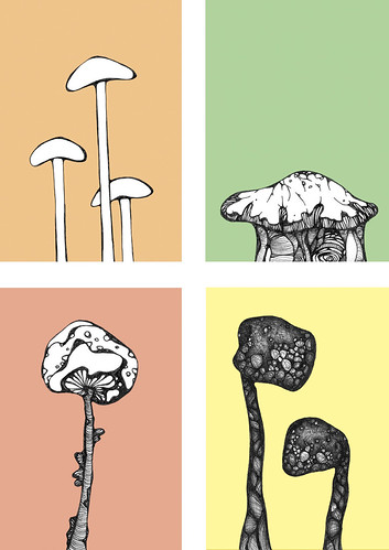 Mushrooms (Pastel Edition)