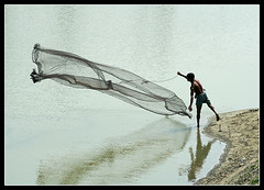 A Search for Silvery Dream - II [..Sirajganj, Bangladesh..] (Catch the dream) Tags: life fish net river fisherman action bongo dream lifestyle posture economy bengal bangladesh position throw bangla bengali bangladeshi bangali sirajgonj mywinners abigfave picturefantastic catchthedream gettyimagesbangladeshq2