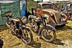 Retro HDR (david A.F Photography) Tags: españa spain oxido girona retro catalunya viejo hdr cataluña motos espanya photomatix elmural davidg9photography