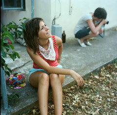 kate and annie. (jackie young.) Tags: summer austin balloons ian george kate alec porch annie werner