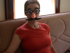 amy brings teh funny (jima) Tags: nose glasses funny amy mustache gadgetgirl