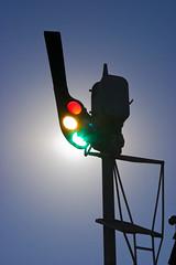 1190 railroad semaphore (Kevin Baird) Tags: railroad sun texas tx signal grapevine semaphore