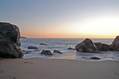 Frothy Sunset (lkylindy) Tags: ocean sf california ca sky sun beach silhouette june rock bay coast sand nikon san francisco rocks waves baker pacific wave marshall area coastline marshalls 2008 blueribbonwinner d40 absolutelystunningscapes