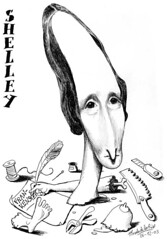 SHELLEY, Mary (Morales de los Ríos) Tags: writers caricaturas philosophers caricatures escritores filósofos