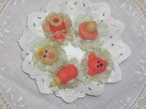 Baby Shower treats made of Marzipan