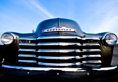 Classic (riclane) Tags: old classic chevrolet car antique perspective chrome classiccarshow