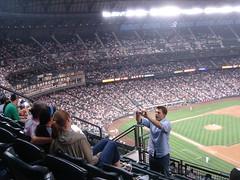 Drunken Matt taking photographs (Jet Set Zero) Tags: matt baseball safeco jetsetzero