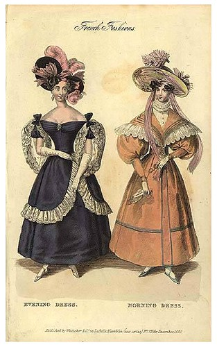 Evening and morning dress, 1830
