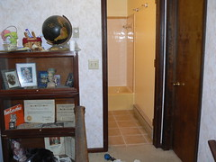 Bathroom from Hallway and Kick Ass Shelf.