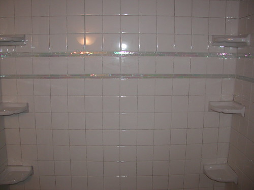 Remodeled Bathroom With Wall Mural Tons Of Pictures HOME - Cheap 4x4 tiles
