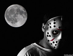 Jason and the Full Moon (Mishari Al-Reshaid Photography) Tags: blackandwhite bw moon jason black photoshop canon dark blackwhite costume scary mask cs2 fear fullmoon event horror kuwait blacknwhite canoneos photoshopcs2 fridaythe13th kuwaitcity q8 24105 canonef24105f4l gtm canoncamera canoneflens imagestabilizer 24105mm q80 canonllens 40d ef24105 mishari jasonmask canonef24105f4lis aplusphoto kuwaitphoto kuwaitphotos 580exii canoneos40d canon40d kvwc excapture kuwaitartphoto gtmq8 kuwaitart kuwaitvoluntaryworkcenter grendizer99 canonef7020028is kuwaitphotography grendizer99photos misharialreshaid malreshaid misharyalrasheed