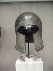 Bronze Helmet of Corinthian type (peterjr1961) Tags: nyc newyorkcity newyork art museum greek met themet metropolitanmuseumofart