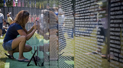The Traveling Wall 1 (MacBailey) Tags: vet vietnam thewall veterans vietnamwar wausauwi