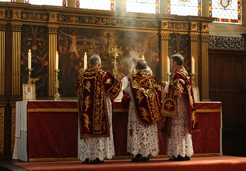Incensing the Altar Cross