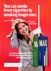 You can smoke fewer cigarettes by smoking longer ones (SA_Steve) Tags: old max ads kent retro advertisements 120s mpa foundontheweb vintageads badphotoshopping ifthesebelongtoyou letmeknowandillattributeorremovethem itswackybutitworks