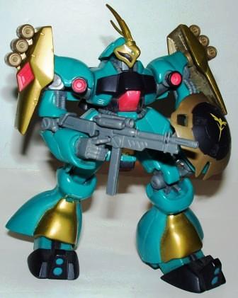 Gundam MSN Jagd Doga Green Gold b by you.