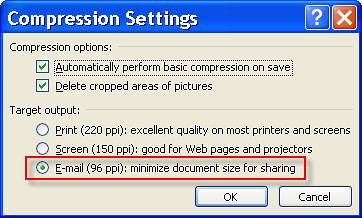 Compression Settings Screenshot