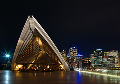 Sydney Opera House and Skyline at Night (Craig Jewell Photography) Tags: city house skyline architecture night lights restaurant opera cityscape nightscape sydney australia multipleexposure newsouthwales cbd operahouse multiexposure bestofaustralia flickrgolfclub cpjcanvas gettypick craigjewellphotography