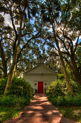 Micanopy FL Church (Walter Arnold Photography) Tags: trees walter tree church digital palms photography town nikon florida path south arnold deep sigma chapel palm historic southern mirage fl 1020mm hdr highdynamicrange hdri micanopy the d300 sigma1020 walterarnold wwwthedigitalmiragecom thedigitalmiragecom