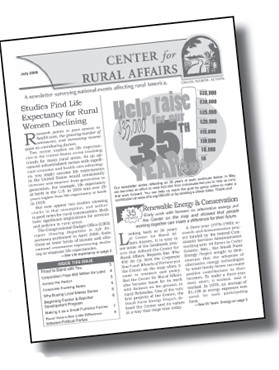 Center for Rural Affairs Newsletter