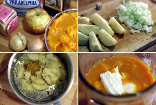 Potiron, oignon, pomme & philadelphia