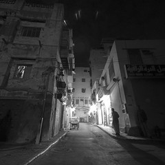 Let Alone (Khaled A.K) Tags: blackandwhite bw night nightshot sa jeddah balad saudiarabia khaled ksa abigfave oldjeddah kashkari jeddahshooters