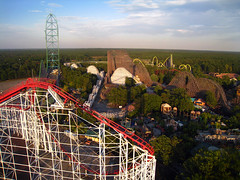 Six Flag Great Adventure from high up